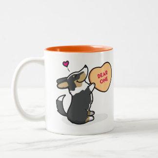 Valentine's 2015-Pembroke Corgi-Black Coffee Mug