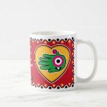 Hand shaped Valentine's Alien mug