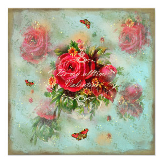 Valentines And Roses - Greeting Card