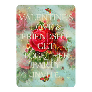 Valentines And Roses - Invitation Card