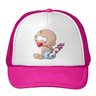 Valentine's baby trucker hat