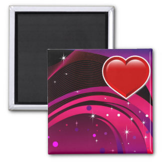 Valentines Background 2 Inch Square Magnet