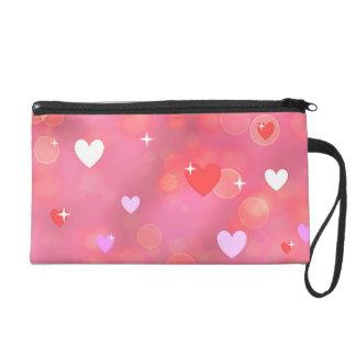 Valentine's background wristlet purse