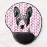 Valentines - Basenji Silhouette Gel Mouse Pads