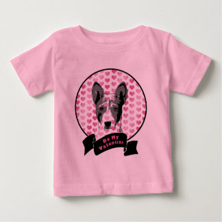 Valentines - Basenji Silhouette Infant T-shirt