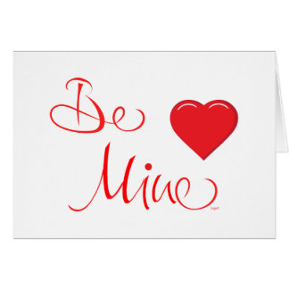 Valentines-Be-Mine-with Red Heart Card