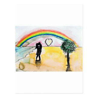 valentines beach postcard