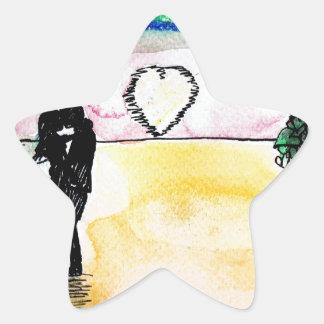 valentines beach star sticker