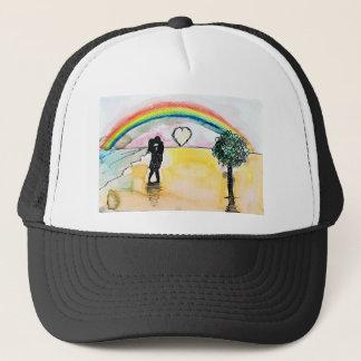 valentines beach trucker hat