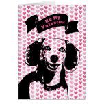 Valentines - Beagle Dog Silhouette Card