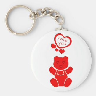 Valentines Bear Keychain