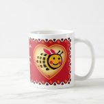 Hand shaped Valentine's Bee mug