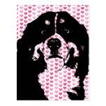 Valentines - Bernese Mountain Dog Silhouette Postcard