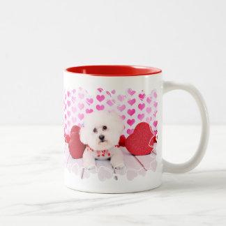 Valentines - Bichon Frise - Lilly Two-Tone Coffee Mug