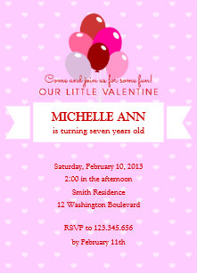 Childrens valentine party invitations zazzle valentines birthday party invitation filmwisefo