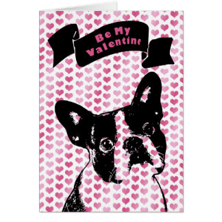 Valentines - Boston Terrier Silhouette Cards