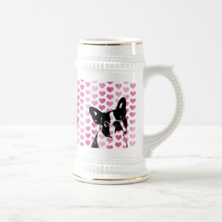 Valentines - Boston Terrier Silhouette Coffee Mugs