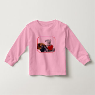 Valentine's Boxer puppy girls t-shirt