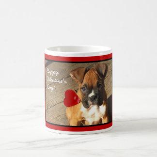 Valentine's Boxer puppy mug