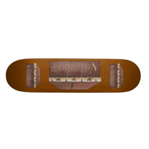 Valentines Boxes Skateboard
