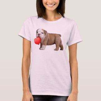 Valentines Bulldog puppy T-Shirt