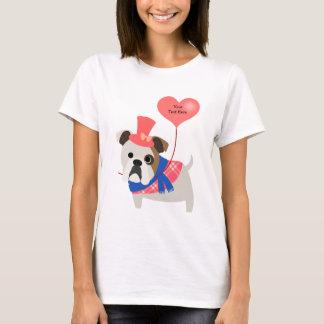 Valentine's Bulldog T-Shirt