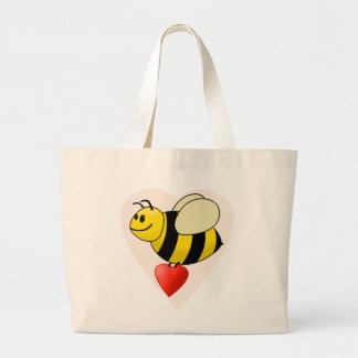 Valentine's Bumble Bee - Bee my Valentine Canvas Bags