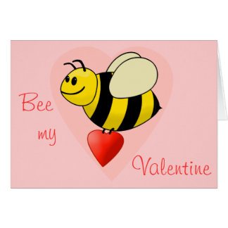 Valentine's Bumble Bee - Bee my Valentine Cards