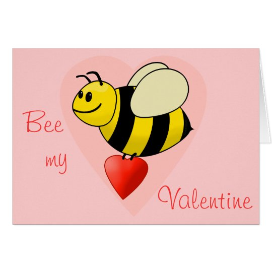 Valentines Bumble Bee Bee my Valentine Card – Bee My Valentine Card