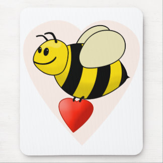 Valentine's Bumble Bee - Bee my Valentine Mouse Pad
