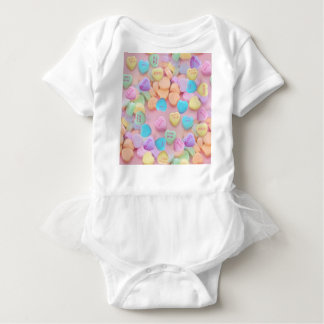 valentines candy hearts baby bodysuit