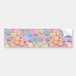 valentines candy hearts bumper sticker