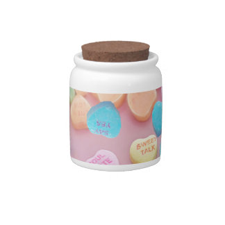 valentines candy hearts candy jars