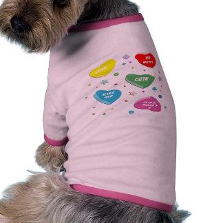 Valentine's Candy Hearts Doggie Tee