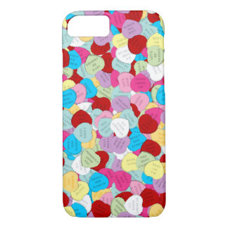 Valentines Candy Hearts-iPhone 7 Case