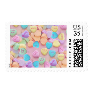 valentines candy hearts postage postal stamps
