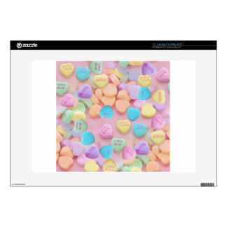 "valentines candy hearts skins for 15"" laptops"
