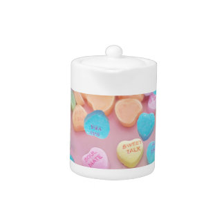valentines candy hearts teapot