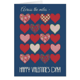 "Valentine's Card 'Across the Miles"", Hearts, Roses"