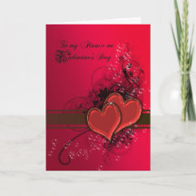 Valentines Day Card for Fianc\u00e9 Valentines Day Card First Valentines Day Happy Valentines Day Greeting Card