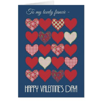 Valentine's Card for Fiancee, Hearts, Roses
