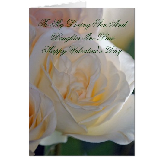 Valentines Card For Son And Daughter InLaw  Zazzlecom