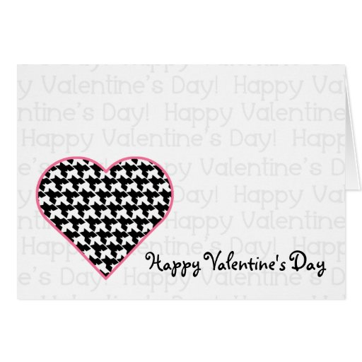Valentine's Card - Houndstooth Heart