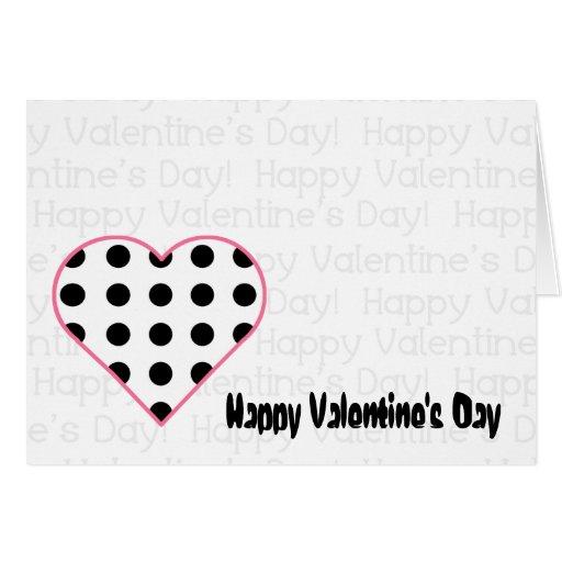 Valentine's Card - Polka Dot Heart