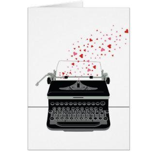 Valentine's Card - Retro Typewriter