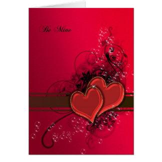 Valentine's card saying be mine