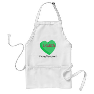 Valentines Cards and GIfts are for Losers Adult Apron