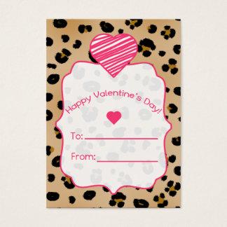 Valentine's Cards - Set Of 100 - Leopard Print