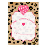 Valentine's Cards - Set Of 100 - Leopard Print Large Business Cards (Pack Of 100)