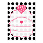 Valentine's Cards - Set Of 100 - Polka Dots Large Business Cards (Pack Of 100)